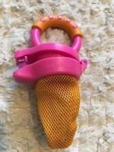 Munchkin GIRLS Nibbler Baby Feeder BPA Free 10 Months +  Pink Orange Fruit - $3.00