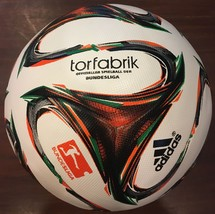 ADIDAS TORFABRIK GERMAN BUNDESLIGA SOCCER BALL 2014-15 THERMAL REPLICA S... - $44.99