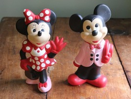 Vintage Ceramic Mickey and Minnie Mouse Figurines © Walt Disney Prod - Excellent - $44.55