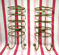 FaB Retro Motel Stacking Washcloth/Towel 2pc Racks w/2 Ball Hooks Wall M... - $48.00