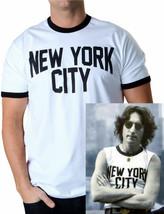 NEW ADULT BEATLES JOHN LENNON  NEW YORK T-SHIRT SIZE S, M,L - £12.25 GBP