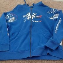 Men's Foot Locker hoodie many milez traveled Long Sleeve Large - $18.87