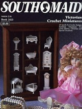 Victorian Crochet Miniatures Antique Furniture 10 Designs Crochet PATTER... - $11.67