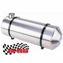 "Bottom 1/"" NPT x2 Round Spun Aluminum gas tank 8x20 Center Fill Tractor Pull"