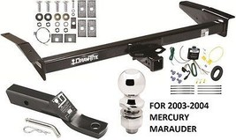 2003-2004 Mercury Marauder Complete Trailer Hitch Package W/ Wiring Kit Class 3 - $258.08