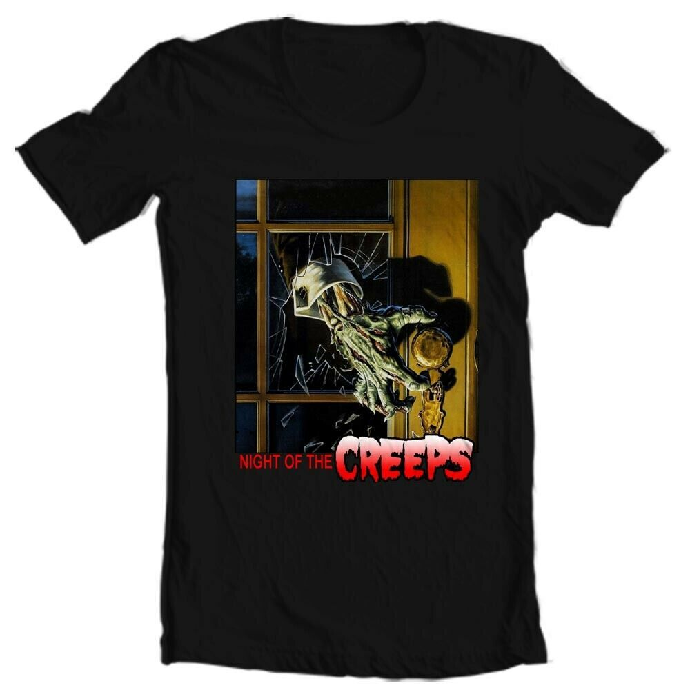 Night of the Creeps T Shirt retro 1980s zombie horror sci fi movie graphic tee