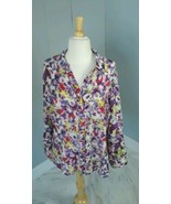 Women's Coldwater Creek Button-Front Floral Blouse Size 1X - $16.14