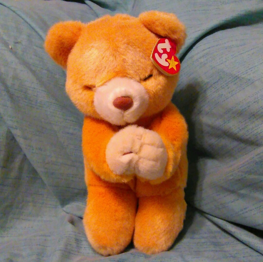 Primary image for TY GoodNight Prayers Keepsake Bear Toys Stuffed Animals Kneeling Praying Hope