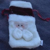 Little Velvety Christmas Gift Bag - Draw String Closure - VGC - FOR GIFT CARDS - $5.93