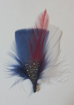 USA White, Blue & Red - Hat Band Feather Hatband Feathers - Classic Fedo... - $5.93