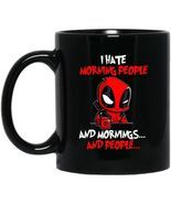 Deadpool I Hate Morning People Morning and People BM11OZ 11 oz. Black Co... - £10.77 GBP