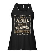 Made In April 1931 The Living Legend 87th Birthday Flowy Racerback Tank - $26.95+