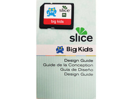 Slice Big Kids Design Card and Design Guide, Shape Cutting and More