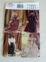 "11½"" FASHION DOLL VINTAGE COSTUMES GOWNS HATS SEWING PATTERN Vogue 9759... - $17.99"