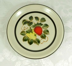 "Vtg 1970's Sears Strawberries Stoneware 12"" Round Platter Chop Plate Jap... - $12.86"