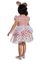 NEW Disguise Girls Disney Minnie Mouse Rose Gold Dress Costume Toddler 3T/4T image 2