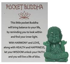 Gnz 1.5 Inch Pocket Buddah Charm/Shelf Sitter with Story Card (Prosperity) - £3.34 GBP