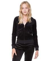 Juicy Couture Pitch Black Track Velour Juicy Studs Robertson Jacket Mult Sz - $84.99