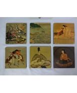 vintage I. Magnin & Co 6 Coasters Made In France - $29.58