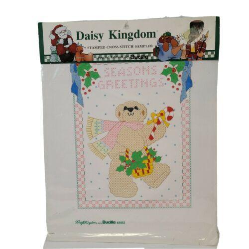 Vtg Bucilla Daisy Kingdom Stamped Cross Stitch Sampler Sp Ed Christmas 63452 NOS - $13.54