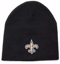 New Orleans Saints NFL Team Apparel Cuffless Knit Winter Hat/Beanie/Toque - $16.14