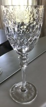 """Rogaska Gallia Cut Crystal Water Goblet X Pattern Base 9 1/4"""" Floral Replacement image 1"""