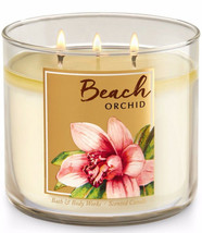 Bath & Body Works Beach Orchid Three Wick 14.5 Ounces Scented Candle - $22.49