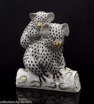 Herend Porcelain Koala and Joey Figurine, VHNM---15349, Black Fishnet - $535.00