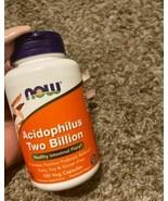 NOW Supplements, Acidophilus, Two Billion, 250 Veg Capsules - $19.79