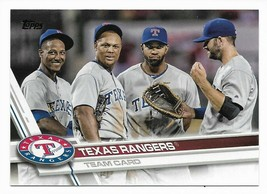 2017 Topps Texas Rangers Team Set with Adrian Beltre - $1.70