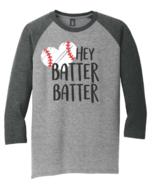 Mens District Made Gray Black Raglan 3/4 Sleeve Baseball TShirt M L XL 2... - $12.95+