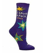 Blue Q Women's Novelty Crew Socks (fit women's shoe size 5-10) - $25.47
