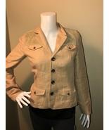 Ralph Lauren Blue Label Women's Jacket Coat Blazer Size 2 Linen Cotton L... - $28.89