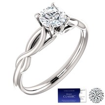 SALE!! 0.50 (5mm) Carat Moissanite Solitaire Ring (Charles & Colvard) - $165.00