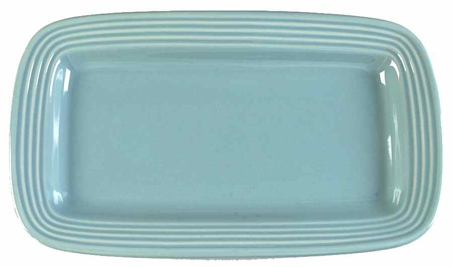 """ONEIDA 13"""" X 8"""" Bread Tray Culinaria Blue Sage OR POUND CAKE SOLID NEW WITH TAG - $49.70"""