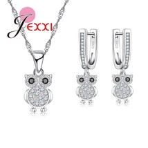 Classic Animal Owl Jewelry Sets For Woman Fashion 925 Sterling Silver Pe... - $14.19