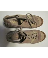 Cole Haan Waterproof Tan Suede Canvas Toe Patent Lace Oxford 065M - $18.99