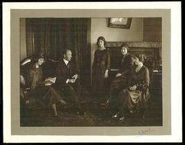 Antique Piano Room Family Photograph signed Artist Photographer E. Gabriel - $14.99