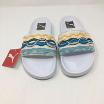 Puma x Coogi Women's Size 10.5 Leadcat White Slip On Slides Sandals 3675... - $34.10