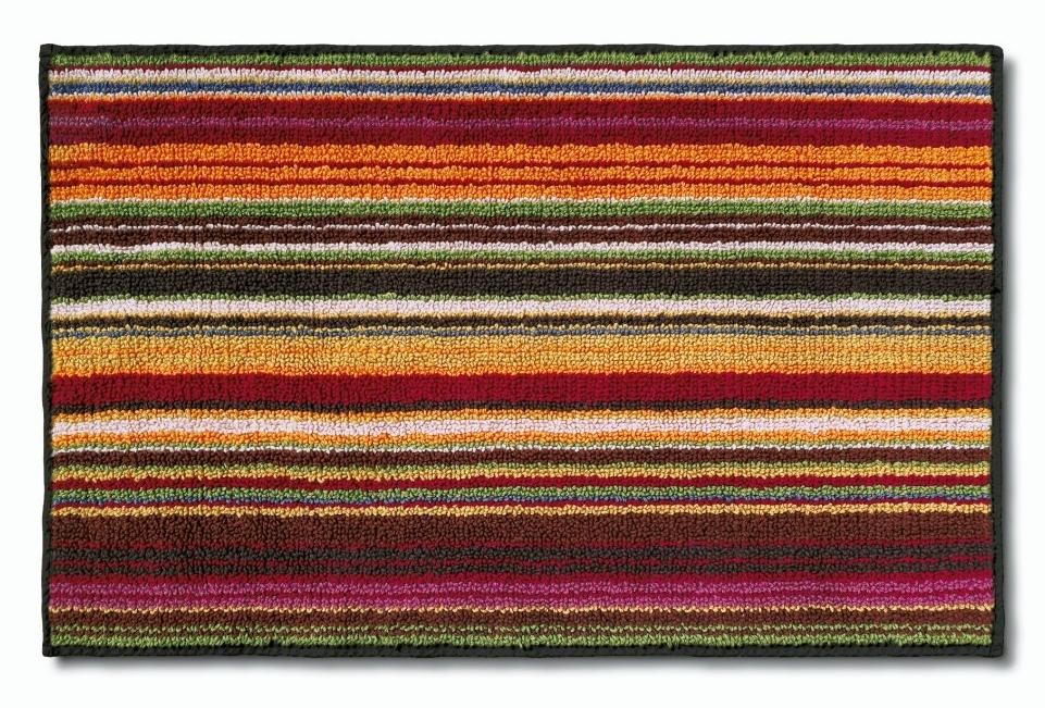 Missoni Jazel Striped Bath Rug, 156 Red - £261.78 GBP