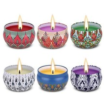 Angium Scented Candles Gift Set (Lavender, Rose, Peppermint, Grapefruit,... - $21.47