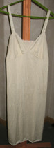 Vintage Womens Shadowline 36 Tall White Lace Trim Full Slip Camisole Top - $13.86