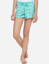 Justice Girls Size 8 Star Shimmer Fuzzy Pajama Shorts in Mint Green New - $13.36