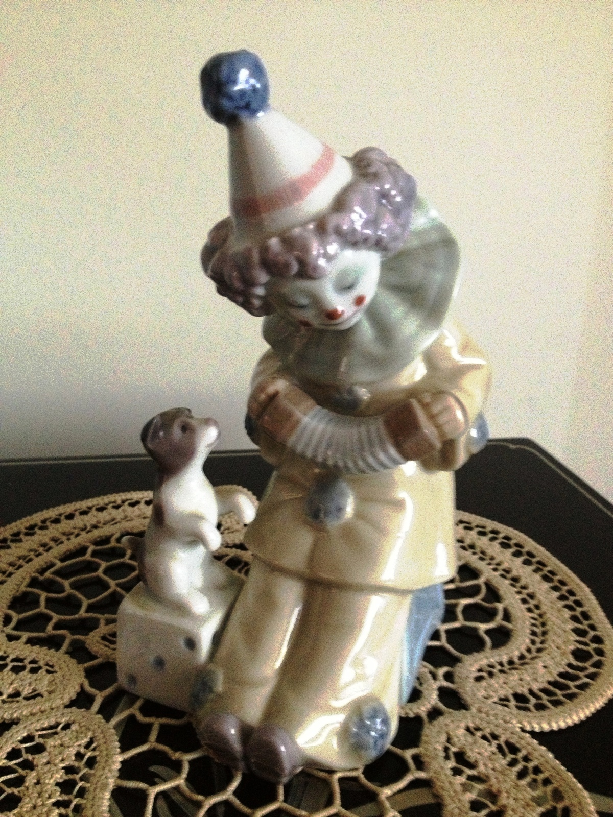 Primary image for Lladro Pierrot with Concertina # 5279 Retired Mint