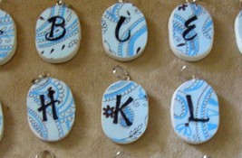 Pretty hand crafted initial pendants - $2.99