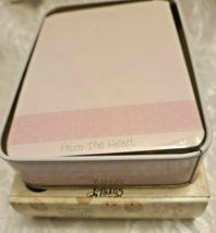 "Precious Moments Blank Note Card Valentines From the Heart"" & Keepsake Tin Box image 6"