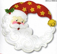 Bucilla Crescent Moon Santa Stars Bell Christmas Wreath Felt Craft Kit 86945 - $52.95