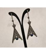 Vintage Silver Ethnic Earrings, Silver Filigree Earrings - $75.00