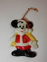 Walt Disney Productions Japan Mickey Mouse as Santa Porcelain Ornament RARE - $16.14