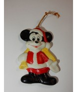 Walt Disney Productions Japan Mickey Mouse as Santa Porcelain Ornament RARE - $16.14